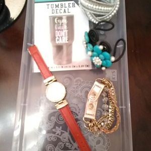 Bundle of watch and bracelets